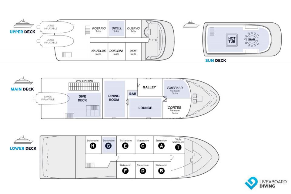 Nautilus Belle Amie Deck Plan
