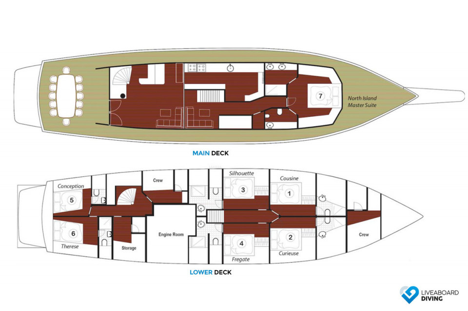 Galatea Deck Plan
