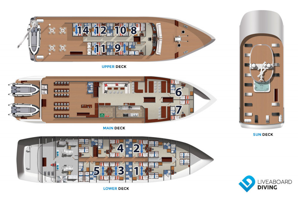 French Polynesia Master Deck Plan