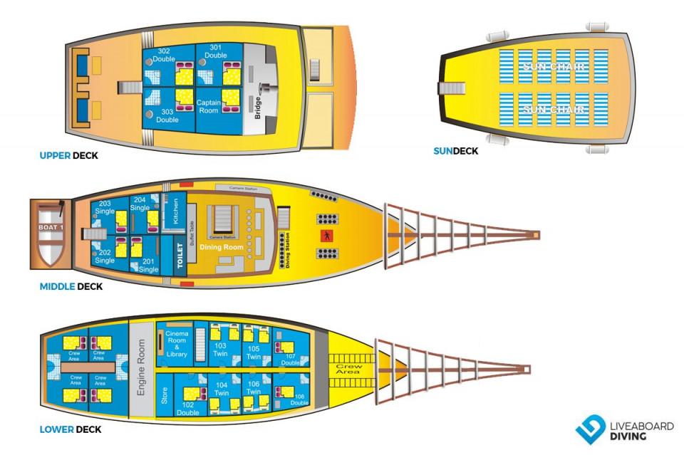 Cheng Ho Deck Plan