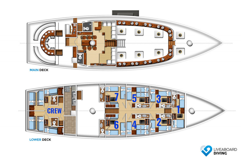 The Phinisi Deck Plan