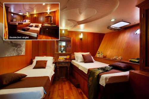 Conte Max Twin (some with queen size) Cabin