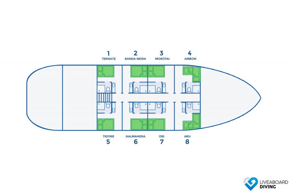 Pindito Deck Plan