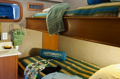 Turks & Caicos Aggressor II Stateroom Cabin