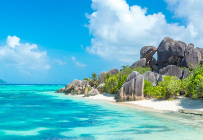 Beach Diving in the Seychelles