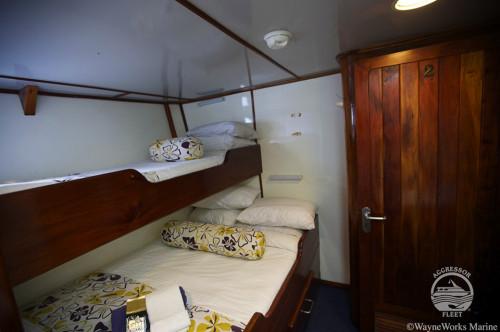 Fiji Aggressor Deluxe Stateroom Cabin