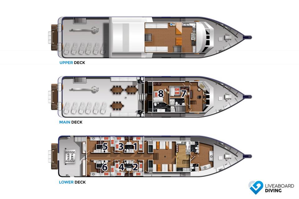 Bahamas Master Deck Plan