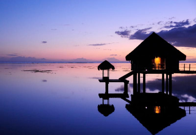 Ocean Bungalow in French Polynesia