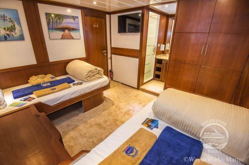 Maldives Aggressor II Twin Stateroom Cabin