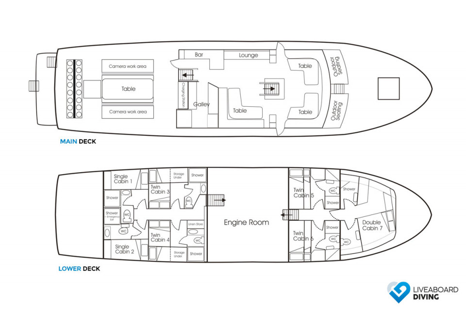 MV FeBrina Deck Plan