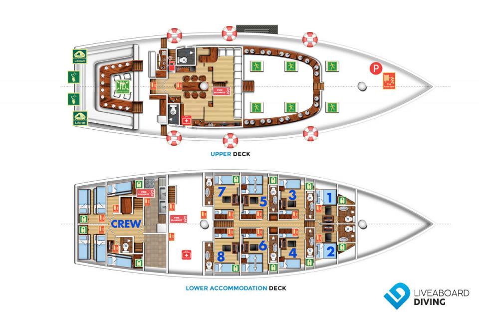 Indo Siren Deck Plan