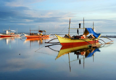 Diving boats in the Philippines
